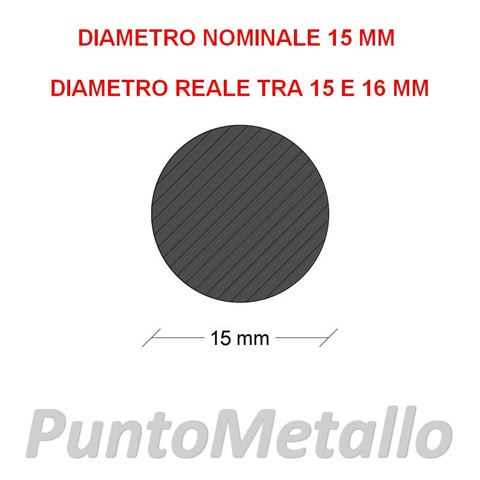 TONDO NYLON PA6 DIAMETRO NOMINALE 15 MM COL. NERO
