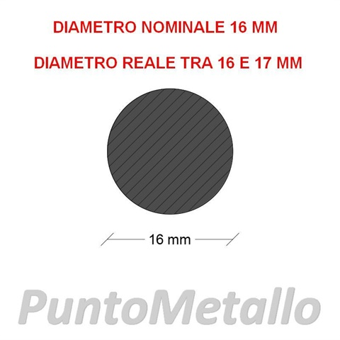 TONDO NYLON PA6 DIAMETRO NOMINALE 16 MM COL. BIANCO