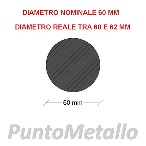TONDO NYLON PA6 DIAMETRO NOMINALE 60 MM COL. BIANCO