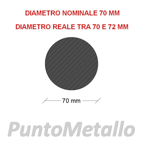 TONDO NYLON PA6 DIAMETRO NOMINALE 70 MM COL. BIANCO