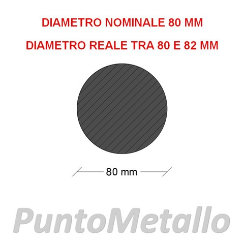 TONDO NYLON PA6 DIAMETRO NOMINALE 80 MM COL. NERO