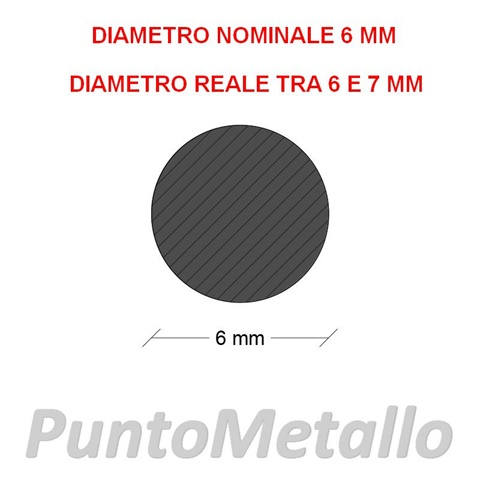 TONDO NYLON PA6 DIAMETRO NOMINALE 6 MM COL. BIANCO