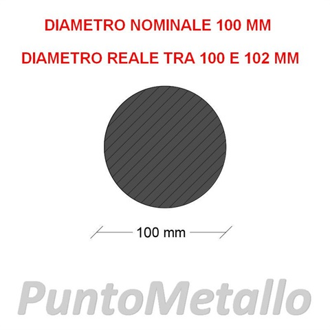 TONDO NYLON PA6 DIAMETRO NOMINALE 100 MM COL. NERO