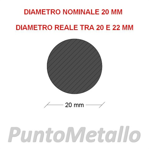 TONDO NYLON PA6 DIAMETRO NOMINALE 20 MM COL. NERO