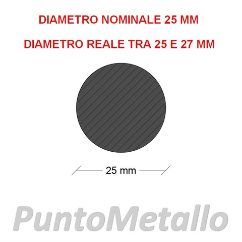 TONDO NYLON PA6 DIAMETRO NOMINALE 25 MM COL. NERO