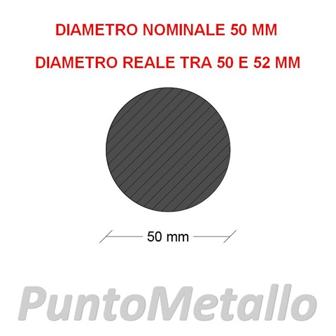 TONDO NYLON PA6 DIAMETRO NOMINALE 50 MM COL. NERO